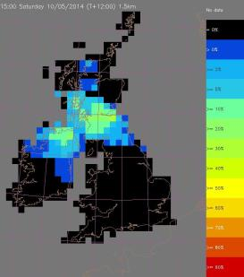 probability of 15mm in 1 hr within each square