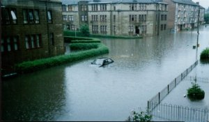 Glasgow in July 2002 (source Dennistoun online). A sight that hopefully won't be repeated 12 years on.