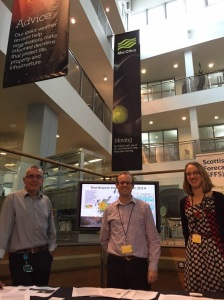 Members of the SFFS in The Street at Met Office Exeter during a knowledge/science exchange visit in November 2014