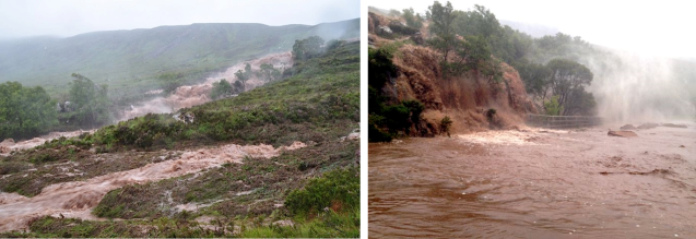 Figure 1. Ardessie Burn on 11 August 2014 – pictures © Helen Meek